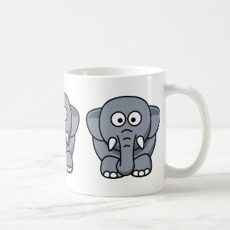 Cute Funny Elephant Basic White Mug