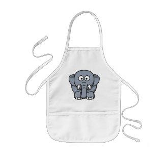Cute Funny Elephant Kids Apron