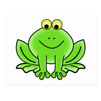 Cute Funny Frog Postcard