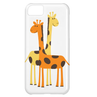 Cute Funny Giraffe Pair iPhone 5C Case
