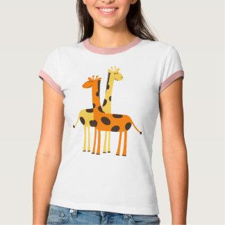 Cute Funny Giraffe Pair T-Shirt