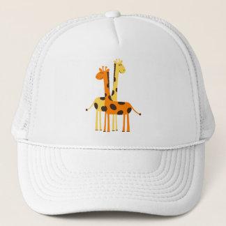 Cute Funny Giraffe Pair Trucker Hat