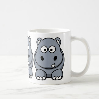 Cute Funny Hippo Coffee Mugs