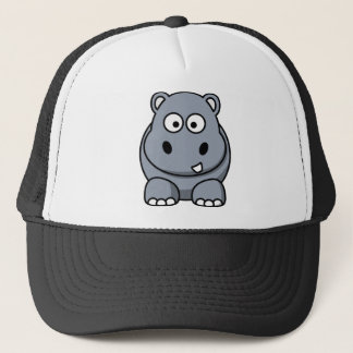 Cute Funny Hippo Trucker Hat