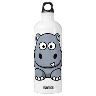 Cute Funny Hippo Water Bottle