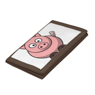 Cute Funny Pig Trifold Wallet