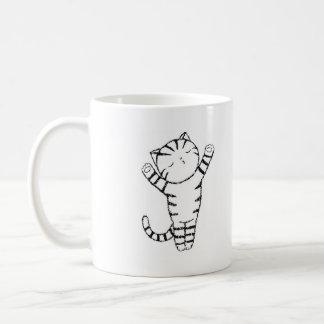 Cute & Funny Tabby Cat Kiss Hug Pet Animal Humor Basic White Mug