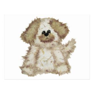 Cute Fuzzy Dog Postcards