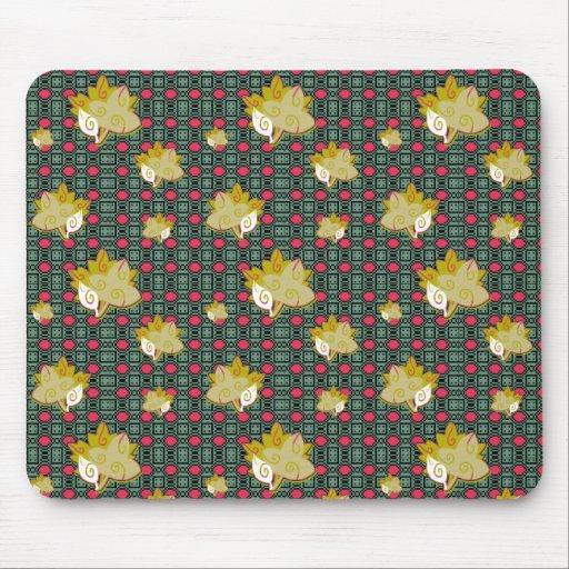 Cute Geometric Leaf Pattern Mousepad Mouse Pad
