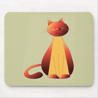 Cute Ginger Cat Art Mousepads