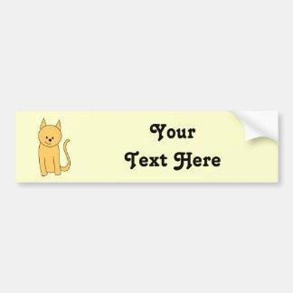 Cute Ginger Cat. Bumper Sticker