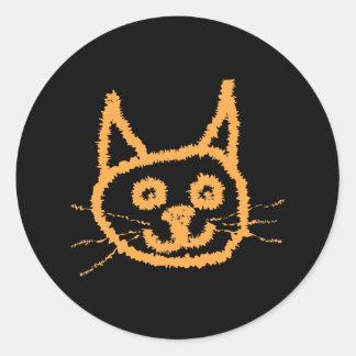 Cute Ginger Cat. Classic Round Sticker