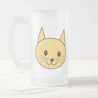 Cute Ginger Cat. 16 Oz Frosted Glass Beer Mug