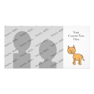 Cute Ginger Cat. Orange Cat Cartoon. Card