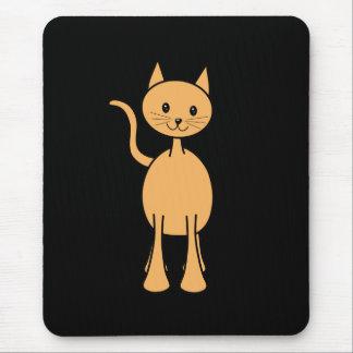 Cute Ginger Cat. Orange Cat Cartoon. Mouse Pad