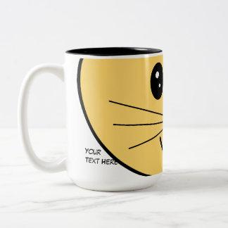 Cute Ginger Cat. Two-Tone Mug