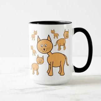 Cute Ginger Cats.  Cat Cartoon.
