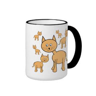 Cute Ginger Cats.  Cat Cartoon. Coffee Mug