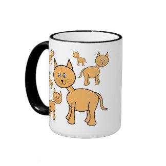 Cute Ginger Cats.  Cat Cartoon. Ringer Mug