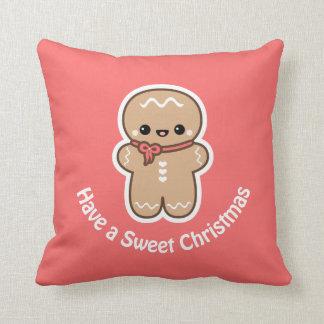 Cute Gingerbread Man Cushion