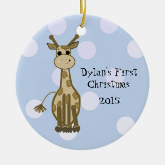 Cute Giraffe Baby s First Christmas Christmas Ornament