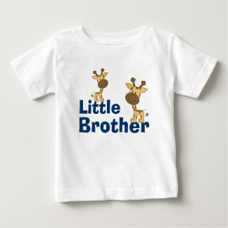 Cute Giraffe Little Brother Baby T-Shirt