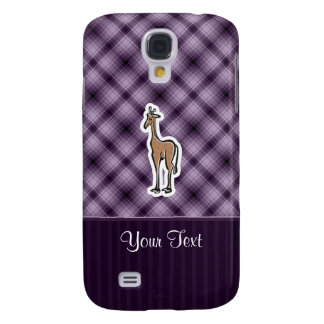Cute Giraffe; Purple Galaxy S4 Case