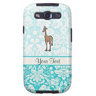 Cute Giraffe; Teal Samsung Galaxy SIII Case