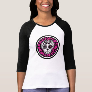 Cute girly Day of the Dead sugar skull custom T-Shirt