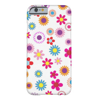 Cute girly Flower Design Barely There iPhone 6 Case