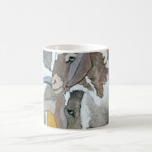 Cute Goats Animal Art  Mug