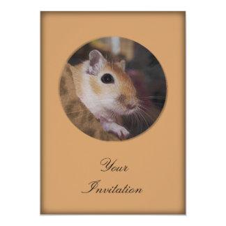 Cute Golden Pet Gerbil Custom Announcements