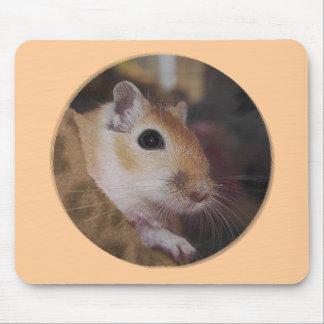 Cute Golden Pet Gerbil Mousemat Mousepad