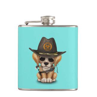 Cute Golden Retriever Puppy Zombie Hunter Flasks