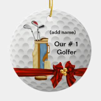CUTE  GOLF HOLIDAY  Ornament