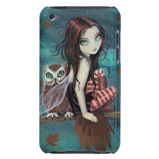 Cute Gothic Fairy and Owl Fantasy Art iPod Touch iPod Case-Mate Cases