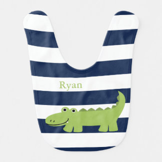 Cute Green Alligator Bibs