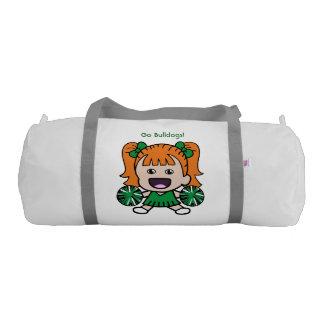 Cute Green Cheerleader Duffel Bag Gym Duffel Bag
