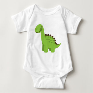 Cute Green Dinosaur Baby Bodysuit
