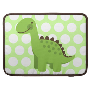 Cute Green Dinosaur Sleeve For MacBook Pro