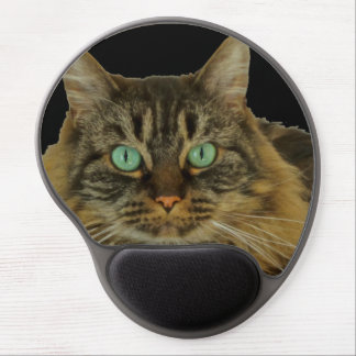 Cute Green Eyed Cat Mousepad Gel Mouse Mats