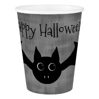 Cute Halloween bat Paper Cup