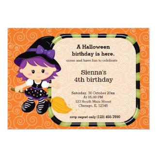 Cute halloween birthday 13 cm x 18 cm invitation card
