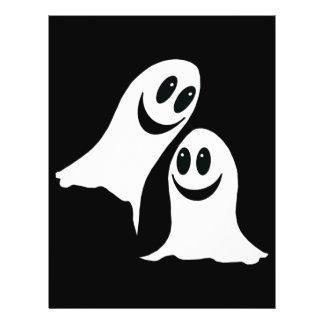 Cute Halloween Cartoon Ghosts Flyer