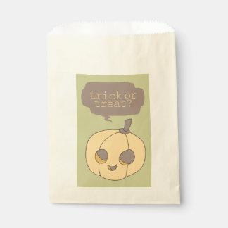 Cute Halloween Pumpkin Trick or Treat Favor Bags Favour Bags