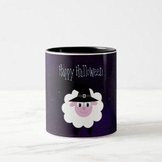 Cute Halloween Sheep & Spiders Magical Night Coffee Mugs