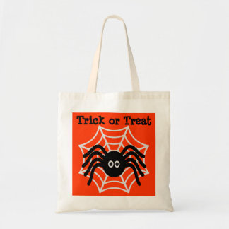 Cute Halloween Spider Trick or Treat Tote Bag