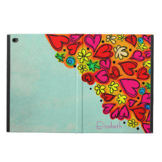 Cute Hand Drawn Doodle Hearts and Flowers Powis iPad Air 2 Case