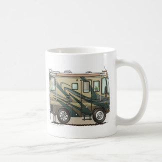Cute Happy Camper Big RV Coach Motorhome Coffee Mug