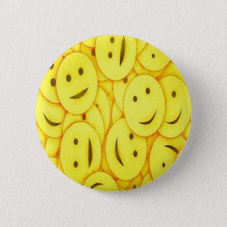 Cute happy faces collage 6 cm round badge